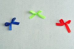 Three colorful bows Royalty Free Stock Photo