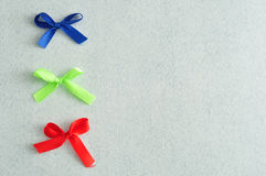Three colorful bows Royalty Free Stock Photos
