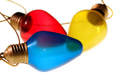 Three Colorful Bulbs Royalty Free Stock Image