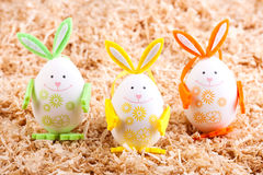 Three colorful bunny Stock Photos