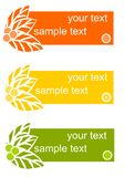 Three colorful cards - Vector Royalty Free Stock Photo