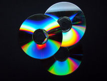 Three colorful CD's Royalty Free Stock Photo
