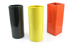 Three colorful ceramic vases Royalty Free Stock Photo