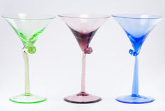 Three Colorful Cocktail Glasses Royalty Free Stock Photography