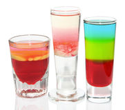Three colorful cocktails Stock Photography