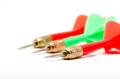 Three colorful darts Stock Photography