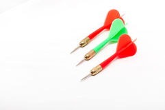 Three colorful darts Royalty Free Stock Images