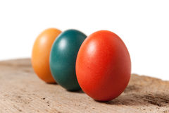 Three Colorful Easter Eggs Stock Photography