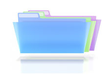 Three Colorful Folders Stock Photo