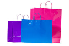 Three colorful gift bags Royalty Free Stock Photography