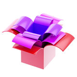 Three colorful gift boxes isolated Royalty Free Stock Photo