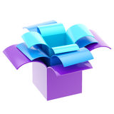 Three colorful gift boxes isolated Stock Photography