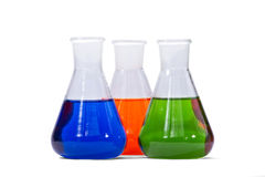 Three colorful glasses Royalty Free Stock Image