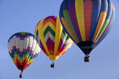 Three Colorful Hot Air Balloons Royalty Free Stock Photography