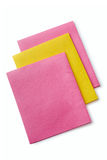 Three colorful kitchen cloths Royalty Free Stock Photography