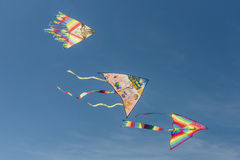 Three colorful kites Royalty Free Stock Photo