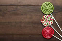 Three colorful lollipops Royalty Free Stock Photos