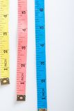 Three colorful  measuring tapes Royalty Free Stock Photo