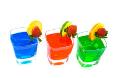 Three Colorful Mixed Drinks Royalty Free Stock Photo
