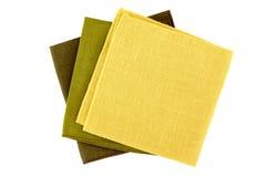 Three colorful napkins on white Royalty Free Stock Photo