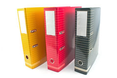 Three colorful  office  folders Stock Image