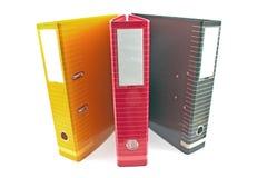 Three colorful office folders Stock Photos