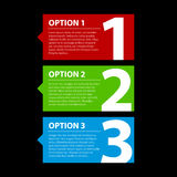 Three colorful options Stock Images