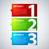 Three colorful options. In corporate style stock illustration