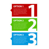 Three colorful options Royalty Free Stock Image