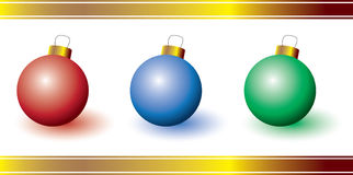 Three colorful ornaments Stock Image