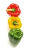 Three colorful paprikas Royalty Free Stock Photos