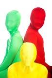Three colorful people Stock Photos