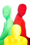 Three colorful people in disguise Royalty Free Stock Photos