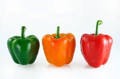 Three colorful peppers Stock Photo