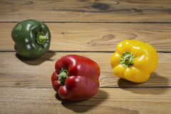 Three colorful peppers Royalty Free Stock Image