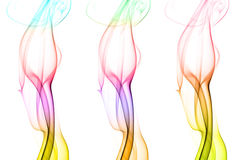 Three colorful pillar of smoke Stock Image