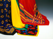 Three Colorful Scarves Royalty Free Stock Image
