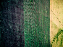 Three colorful sections of field in countryside Stock Photography