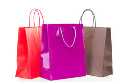 Three colorful shopping bags Royalty Free Stock Photography