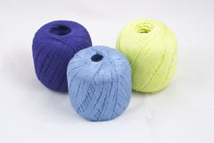 Three colorful skeins Royalty Free Stock Photography