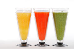 Three colorful smoothie Stock Image