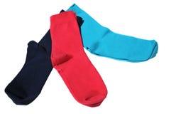 Three colorful socks Stock Photo