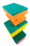 Three colorful sponges. Royalty Free Stock Photos