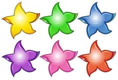 Three colorful stars Royalty Free Stock Image