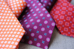 Three colorful Ties Royalty Free Stock Photography