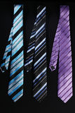 Three colorful ties  for men Royalty Free Stock Photos