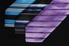 Three colorful ties  for men Royalty Free Stock Image
