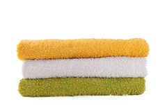 Three colorful towels Royalty Free Stock Photos