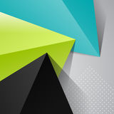 Three colorful triangles on gray background Stock Photography