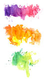 Three colorful watercolors Royalty Free Stock Image